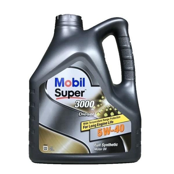 Масло дизельное Mobil Super 3000*1 Diesel 5W-40 A3/B3/B4 CF синтетика, финское 4л