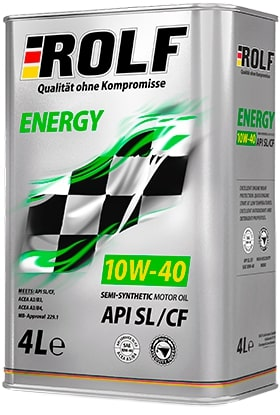 Масло моторное ROLF Energy 10W-40 SL/CF полусинтетика 4л