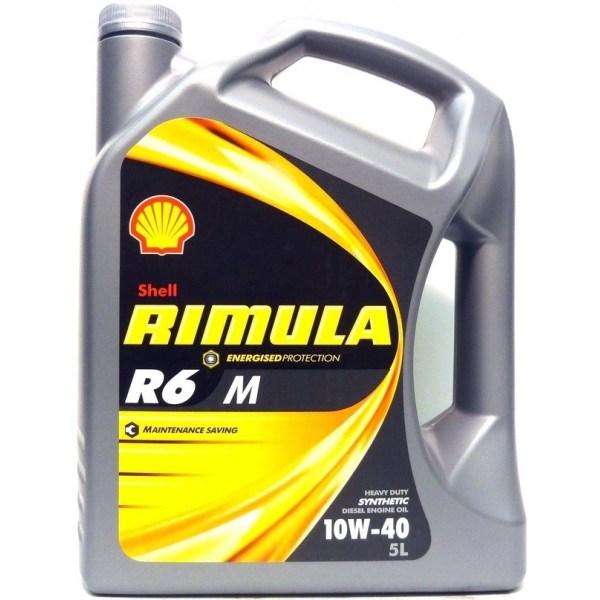 Масло дизельное Shell Rimula R6 М 10W-40 E7/E4 CF синтетика 4л