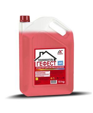 Теплоноситель ГЕФЕСТ -30С на основе моноэтиленгликоля красный 10кг