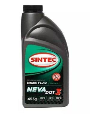 Тормозная жидкость SINTEC НЕВА DOT-3 (пэт) 455гр