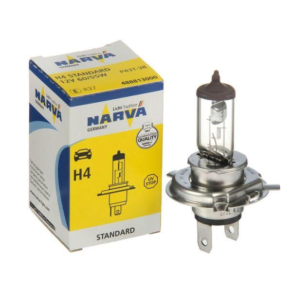 Автолампа NARVA STANDART 12 V H4 60/55W P43t-38 (картон 1шт)