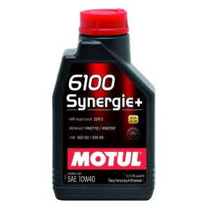 Масло моторное MOTUL 6100 Synergie+ 10W-40 A3/B4 SM/CF 1л