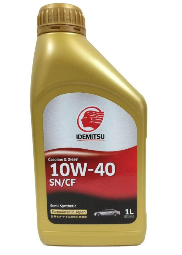 Масло моторное IDEMITSU 10W-40 SN/CF полусинтетическое 1л