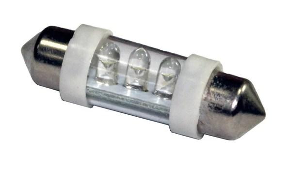 Автолампа светодиодная ДИАЛУЧ 92905 LED 3 12V С5W 12V SV8.5-8 3SMD, белая