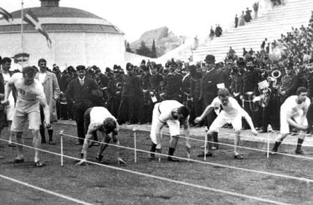近代オリンピック第一回100m走