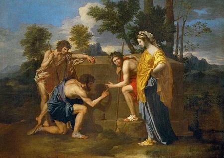 ニコラ・プッサンの「アルカディアの牧人たち」