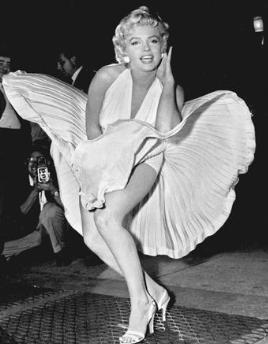 マリリン・モンロー舞い上がるスカート