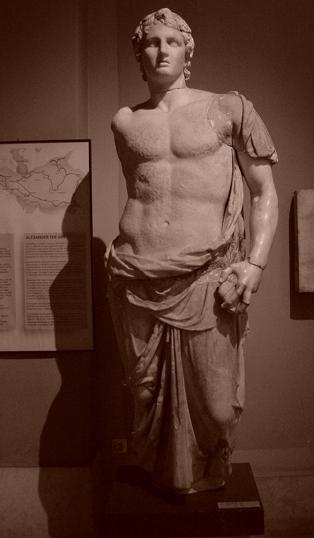 アレクサンダー大王像