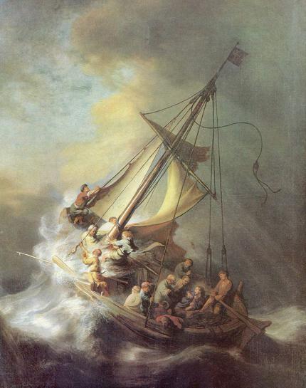 レンブラントがラリアの海の嵐