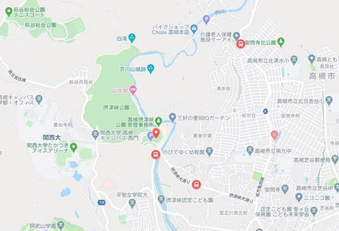 摂津峡ホタル地図
