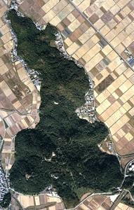 安土山の空中写真