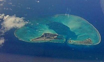 ミッドウェー島航空写真