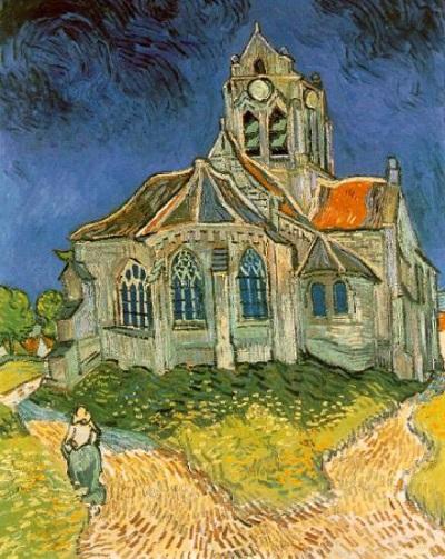 『オーヴェルの教会』1890年6月、オーヴェル。