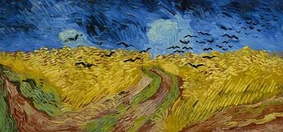 『カラスのいる麦畑』1890年7月、オーヴェル。