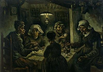 『ジャガイモを食べる人々』1885年4月-5月、ニューネン。
