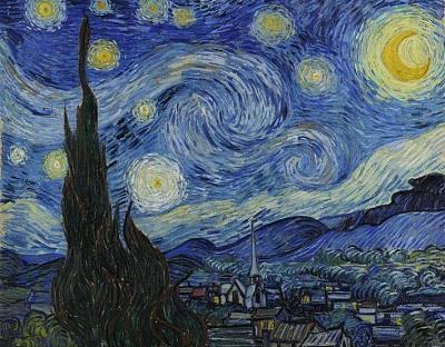 『星月夜』1889年6月、サン=レミ。