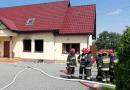 Pożar domu w Pozowicach