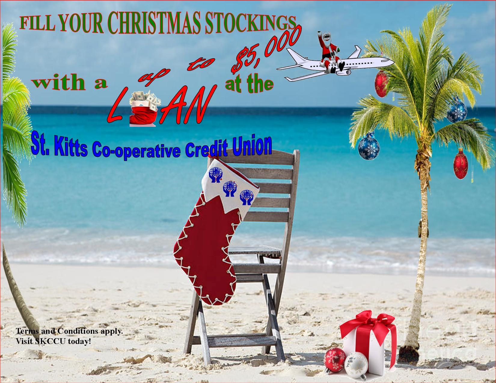 Christmas Loan Promotions.Christmas 5000 Loan 2015 St Kitts Co Operative Credit Union