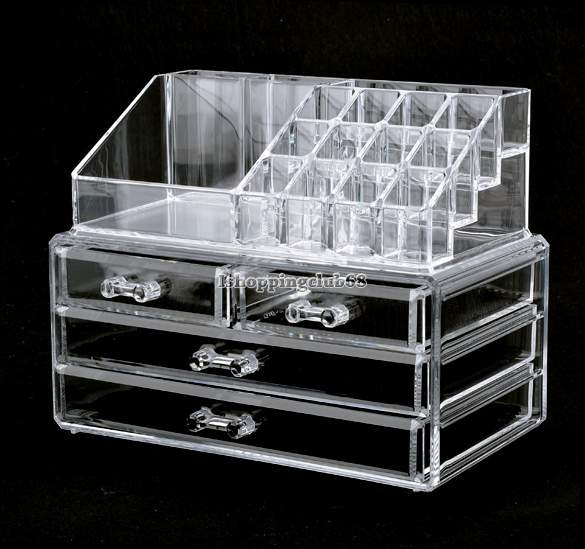 Buy 4 Drawers Acrylic Cosmetic Organizer