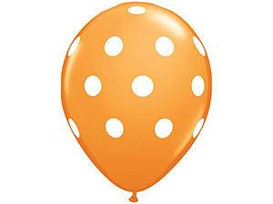 Polka Dot Orange Balloons