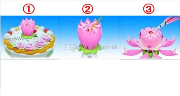 Buy Rotating Musical Flower Birthday Candle