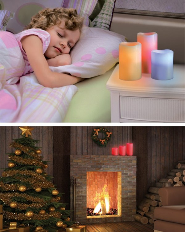 Buy Luma Candles Real Wax Flameless Candles with Remote Control Timer, 3 Candle Set