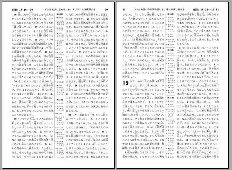 Seisho no shomei - Livros da bíblia em japonês -  1