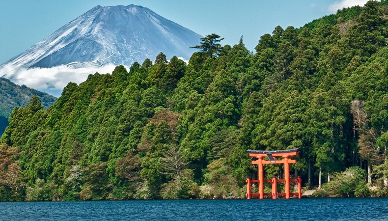 Os melhores locais para ver o monte fuji - hakone templo e1558012685341 3