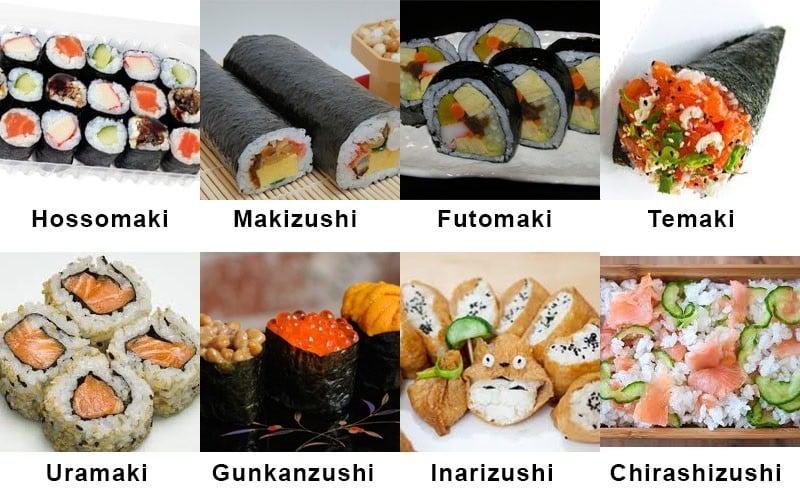 Categoría de sushi