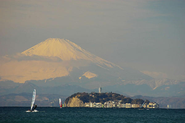 A famosa ilha de enoshima