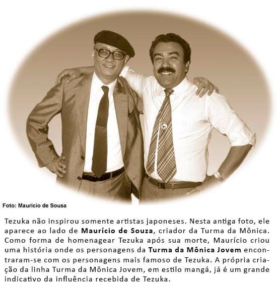 Osamu Tezuka e Maurício de Souza