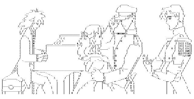 Asiáticos e suas ASCII arts - Artes em texto - artes 1