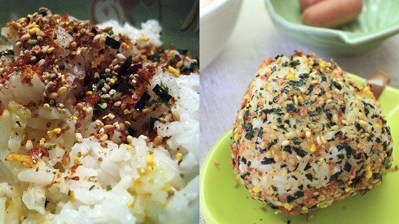 Furikake-日本调味料放在米饭上