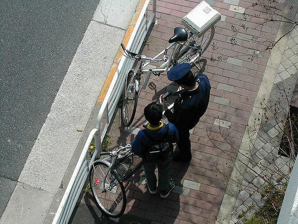 As bicicletas no Japão - policia bicicletas 3
