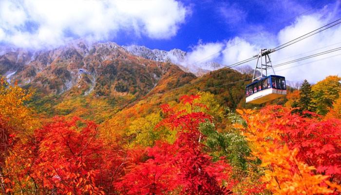 Thang máy trượt tuyết ở Nhật Bản