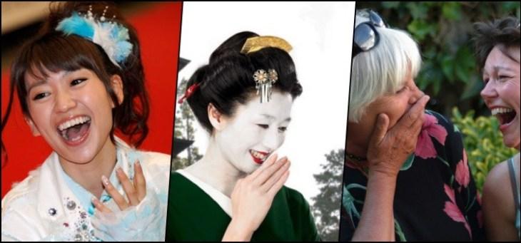 Porque as japonesas cobrem a boca quando vão rir?