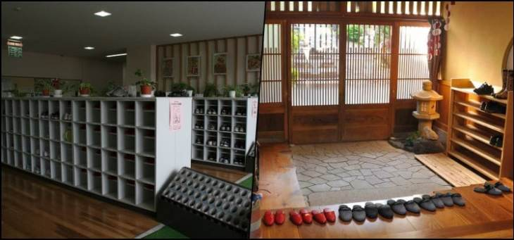 Genkan - A entrada da casa onde japoneses tiram os sapatos