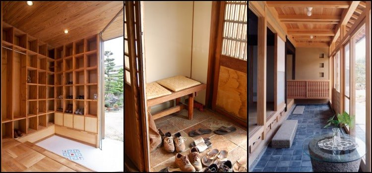 Genkan - hall de entrada donde los japoneses se quitan los zapatos