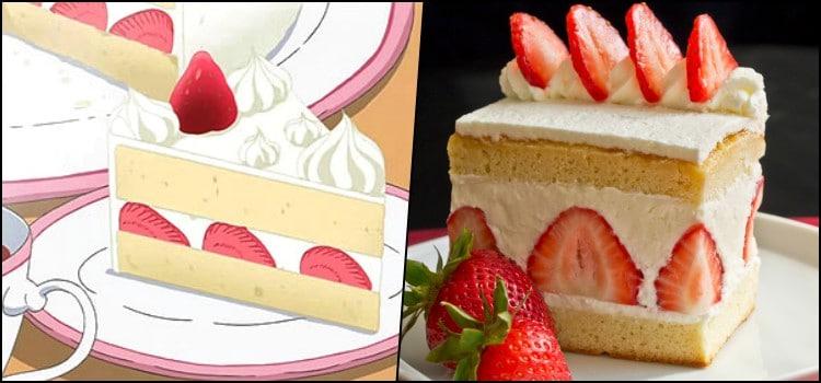Receita - O famoso bolo de morango dos animes