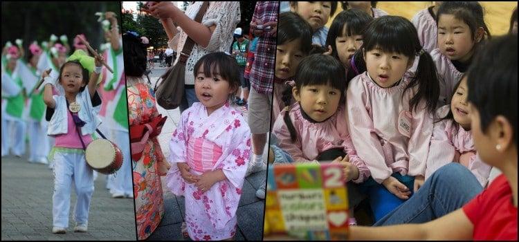 O desenvolvimento das crianças japonesas