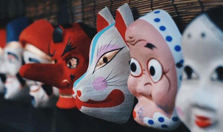 As famosas máscaras japonesas - mascaras 2