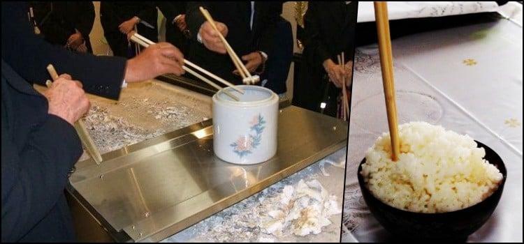 Tabus Sociais do Japão - Hashi na comida 1