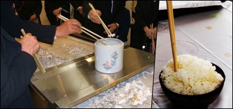 Tabus Sociais do Japão - Hashi na comida - hashi funeral 1