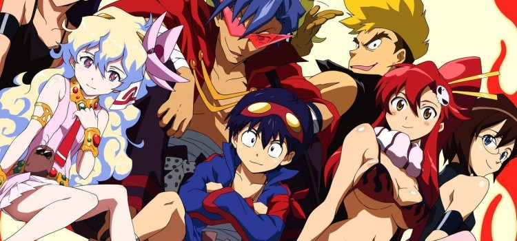 Meu top 10 animes favoritos - Melhores animes de todos os tempos - gurren lagann 7