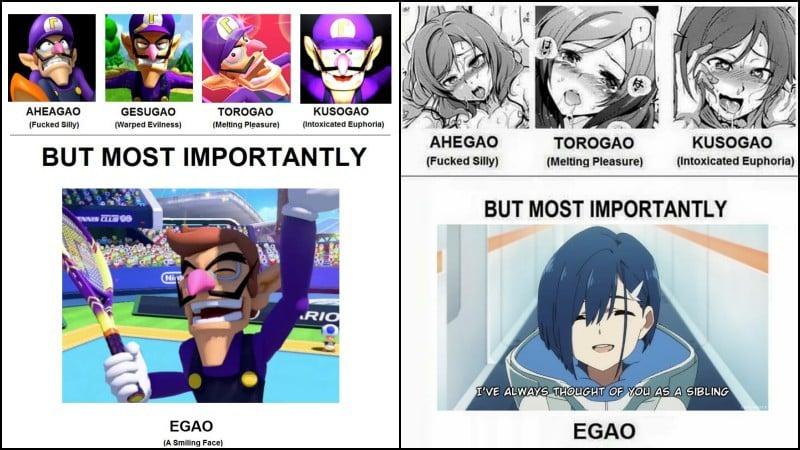 Ahegao - tất cả về những khuôn mặt kỳ lạ trong manga và anime
