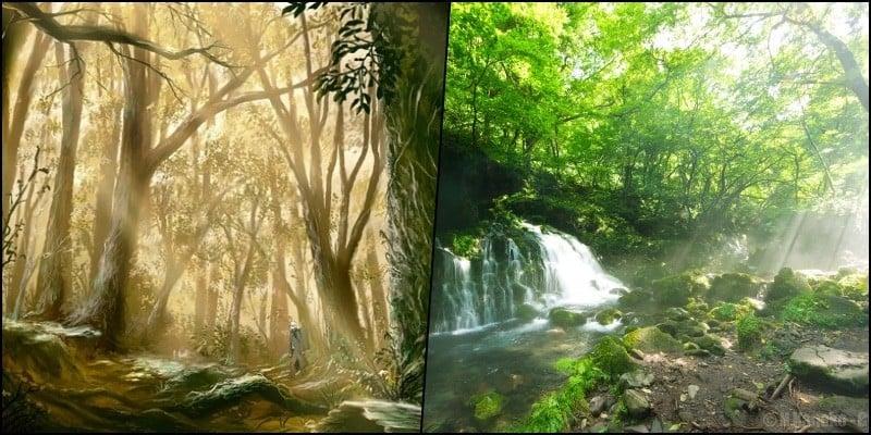 Komorebi - luz del sol a través de los árboles