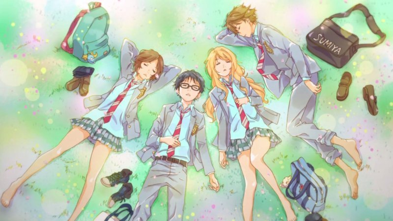 List of the saddest anime to make crying - shigatsu wa kimi no uso 3
