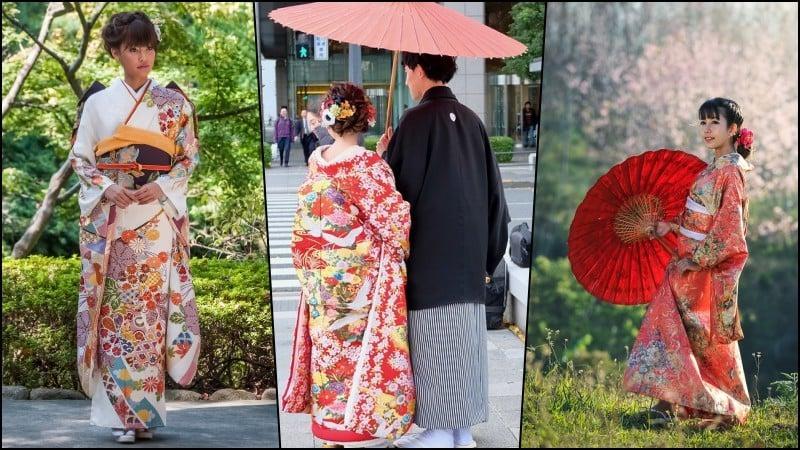 Como dizer esposa em japonês? - noivas kimono 5