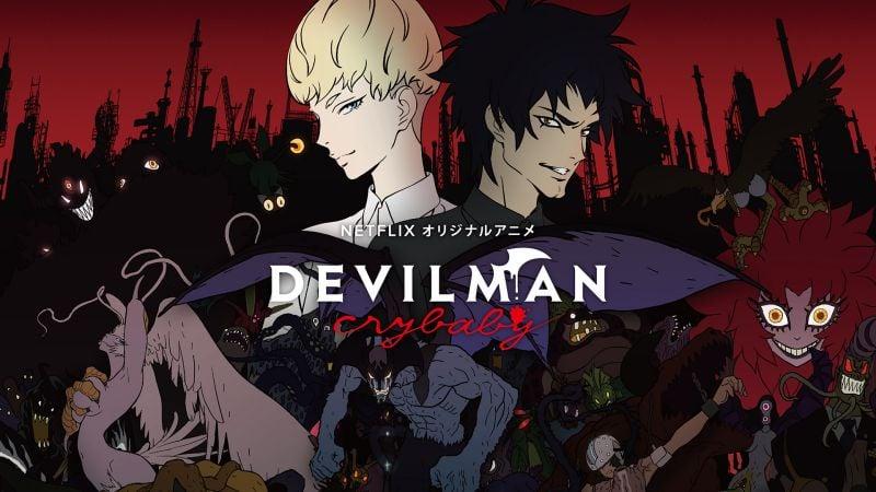 Lista com os melhores animes da netflix - devilman crybabe 8
